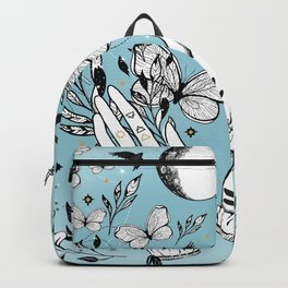 Full Moon Magic Of Nature With Blackbirds And Butterflies Backpack