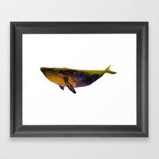 Oil whale Framed Art Print