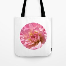PINK DAHLIA CROWN IX Tote Bag