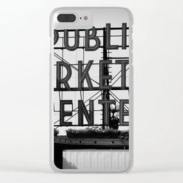 Pike Place Clear iPhone Case