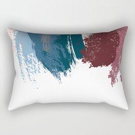 Red navy brush strokes Rectangular Pillow