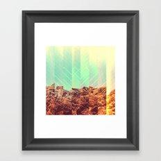 SALT ROCK Framed Art Print