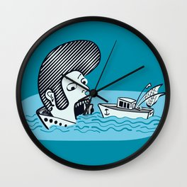 Elvis Eats Boats Wall Clock