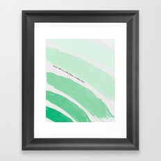 Every Plan is a Tiny Prayer to Father Time Framed Art Print