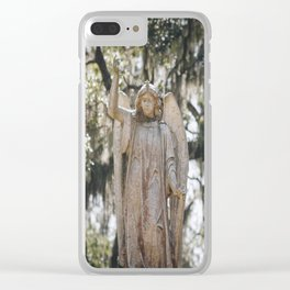 Bonaventure Cemetery Angel Clear iPhone Case