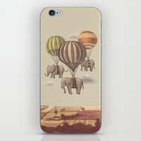 cup iPhone & iPod Skins featuring Flight of the Elephants  by Terry Fan