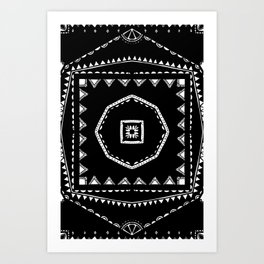 Radial Aztec Pattern Art Print