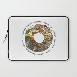 Feed the Planet Composting Wheel Laptop Sleeve