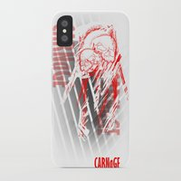 carnage iPhone & iPod Cases featuring CARNaGE by Psychojoe151