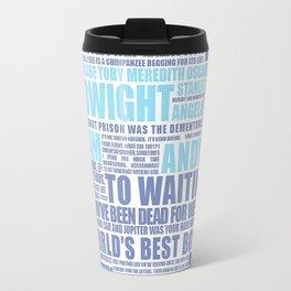 The Office Blue Travel Mug