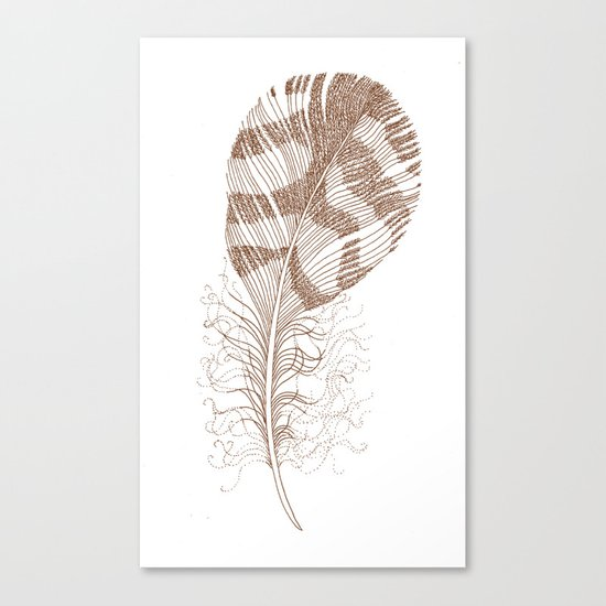 The Solitary Feather Canvas Print