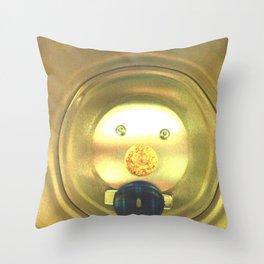 Tea jar smile. Throw Pillow