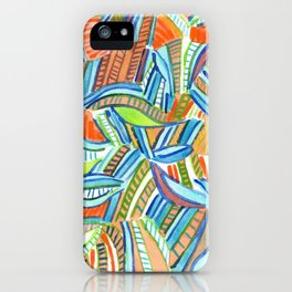 Bent and Straight Ladders Pattern iPhone Case