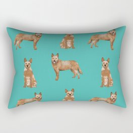 Australian Cattle Dog red heeler love dog breed gifts cattle dogs by pet friendly Rectangular Pillow