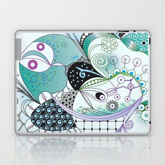 Winter tangle Laptop & iPad Skin