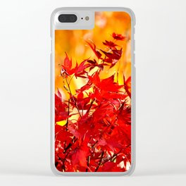 RED AND ORANGE AUTUMN Clear iPhone Case