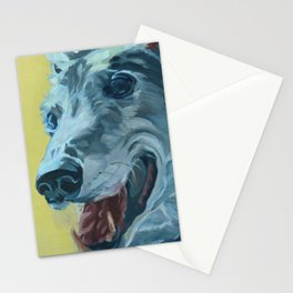 Dilly the Greyhound Portrait Stationery Cards
