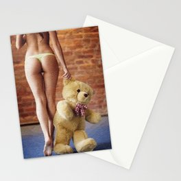 Lingerie and Teddy bear Stationery Cards