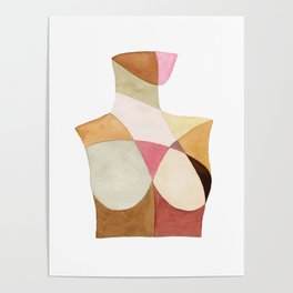 The Woman Patchwork Watercolor Print Poster