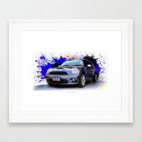 mini cooper Framed Art Prints featuring Mini Cooper S by Urbex :: Siam
