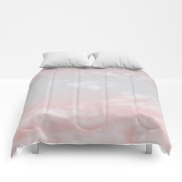 cotton candy skies iii Comforters
