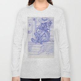 The Cajun Gator_Chillaxing Long Sleeve T-shirt