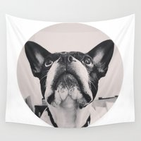 french bulldog Wall Tapestries featuring French Bulldog by lori