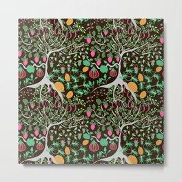 Fairy floral pattern unusual plants, trees and flowers Metal Print