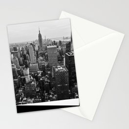 Black & White NYC Skyline Stationery Cards