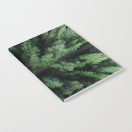 Aerial Forest Green Trees Notebook