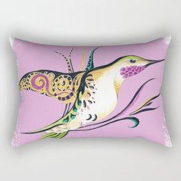 Hummingbird Ink Tribal Romantic Pink Rectangular Pillow
