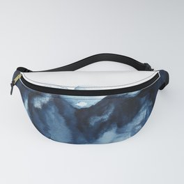 Abstract Indigo Mountains Fanny Pack