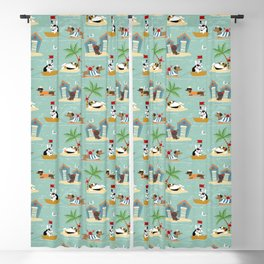 The Ultimate Dog Vacation pattern Blackout Curtain