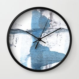 Blue hand-drawn watercolor Wall Clock