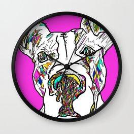 Honey the Pitbull Wall Clock