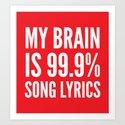 My Brain is 99.9% Song Lyrics (Red) by creativeangel