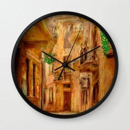 Italian City Street Wall Clock