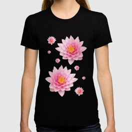 Pink Water Lotuses / Lilies T-shirt