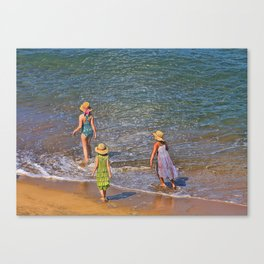 Testing The Water (book cover photo) Canvas Print