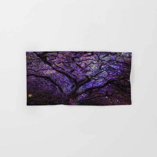Mystic Tree of Knowledge Purple Hand & Bath Towel