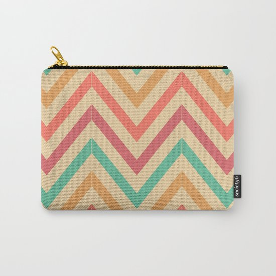 Zig zag vintage Carry-All Pouch