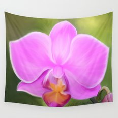 Painted Orchid Wall Tapestry