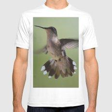 Hummingbird in Flight Mens Fitted Tee MEDIUM White