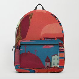 warm village Backpack