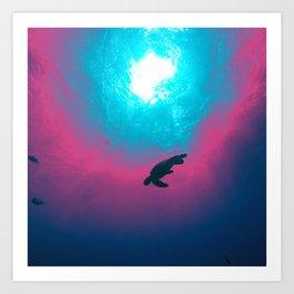 Space Wave Art Print