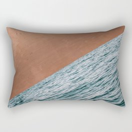 Ocean + Copper #society6 #buyart #decor Rectangular Pillow