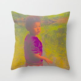 She Listens At Golden River And Feels An Overseeing Power Throw Pillow