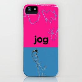 Jog iPhone Case