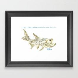 Key West Tarpon II Framed Art Print