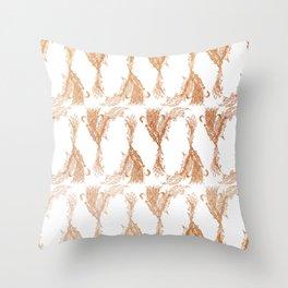 Phoenix in Copper Throw Pillow